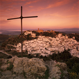 Sunrise over Typical White Andalucian Village, Casares, Andalucia, Spain, Europe Photographic Print by Stuart Black