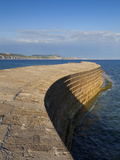 Stone Cobb/Harbour Wall, Famous Landmark of Lyme Regis, UNESCO World Heritage Site, Dorset, England Photographic Print by Neale Clarke