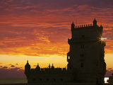 Belem Tower, UNESCO World Heritage Site, Lisbon, Portugal, Europe Photographic Print by Angelo Cavalli