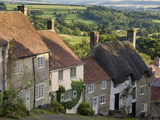 Gold Hill, and View over Blackmore Vale, Shaftesbury, Dorset, England, United Kingdom, Europe Photographic Print by Neale Clarke