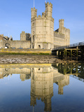 Caernarfon Castle, UNESCO World Heritage Site, in River Seiont, Caernarfon, Gwynedd, Wales, UK Photographic Print by Chris Hepburn