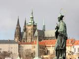 John of Nepomuk Statue on Charles Bridge, UNESCO World Heritage Site, Prague, Czech Republic Photographic Print by  Godong