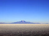 Salar de Uyuni Salt Flat and Mount Tunupa, Andes Mountains in the Distance in South-Western Bolivia Photographic Print by Simon Montgomery