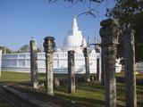 Thuparama Dagoba, Anuradhapura, UNESCO World Heritage Site, North Central Province, Sri Lanka, Asia Photographic Print by Ian Trower