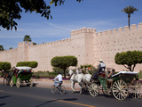 Walls of the Old City and Medina, Marrakesh, Morocco, North Africa, Africa Fotografisk tryk af Frank Fell