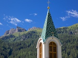View over Church, Canazei, Val di Fassa, Trentino-Alto Adige, Italy, Europe Photographic Print by Frank Fell