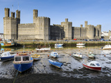 Low Tide on River Seiont at Caernarfon Castle, UNESCO World Heritage Site, Gwynedd, Wales, UK Photographic Print by Chris Hepburn