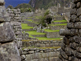 Inca Wall, Machu Picchu, Peru, Lost City of Inca, Rediscovered by Hiram Bingham, 1911 Photographic Print by Simon Montgomery
