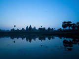 Angkor Wat Temple and Moon, Angkor Temples, UNESCO World Heritage Site, Siem Reap, Cambodia Photographic Print by Matthew Williams-Ellis