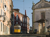 Cable Car in the Old Town, Lisbon, Portugal, Europe Photographic Print by Angelo Cavalli