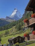 Matterhorn, Zermatt, Canton Valais, Swiss Alps, Switzerland, Europe Fotografisk tryk af Angelo Cavalli