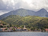 Saint-Pierre with Mount Pelee, Fort-De-France, Martinique, Lesser Antilles, West Indies Photographic Print by Adina Tovy