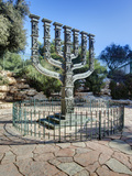 The Menorah Sculpture by Benno Elkan at Entrance to Knesset, Israeli Parliament, Jerusalem, Israel Photographic Print by Gavin Hellier