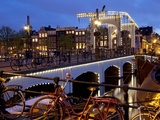 Magere Brug (Skinny Bridge) at Dusk, Amsterdam, Holland, Europe Photographic Print by Frank Fell