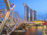 The Helix Bridge and Marina Bay Sands, Marina Bay, Singapore, Southeast Asia, Asia Photographic Print by Gavin Hellier