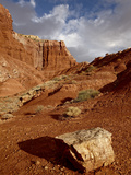 Rock in the Badlands, Capitol Reef National Park, Utah, United States of America, North America Photographic Print by James Hager