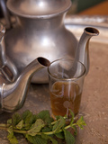 Making Mint Tea at Mohamed Attai Village in the Atlas Mountains, Morocco, North Africa, Africa Fotodruck von Frank Fell