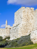 Citadel (Tower of David), Old City Walls, UNESCO World Heritage Site, Jerusalem, Israel Photographic Print by Gavin Hellier