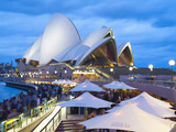 People at Opera Bar in Front of Sydney Opera House, UNESCO World Heritage Site, Sydney, Australia Photographic Print by Matthew Williams-Ellis
