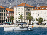 Yacht in Split Harbour, Dalmatian Coast, Croatia, Europe Photographic Print by Richard Cummins