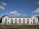 Orangery with Olympic Themed Garden, Royal Botanic Gardens, UNESCO World Heritage Site, England Photographic Print by Adina Tovy