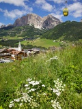 Corvara and Cable Car, Badia Valley, Trentino-Alto Adige/South Tyrol, Italy Photographic Print by Frank Fell