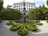 Villa Carlotta and Gardens in Spring Sunshine, Tremezzo, Lake Como, Lombardy, Northern Italy Photographic Print by Peter Barritt