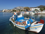 Fishing Harbour and Mount Kerketeas, Ormos Marathokampos, Samos, Aegean Islands, Greece Photographic Print by Stuart Black