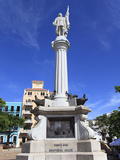 Christopher Columbus Statue, Plaza Colon, Old San Juan, San Juan, Puerto Rico, West Indies, USA Photographic Print by Wendy Connett