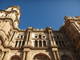 Malaga Cathedral Low Angle View, Malaga, Andalusia, Spain, Europe Photographic Print by Ian Egner