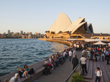 People Enjoying Evening at Opera Bar at Sydney Opera House, UNESCO World Heritage Site, Australia Photographic Print by Matthew Williams-Ellis