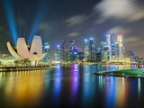 Art Science Museum and City Skyline from Marina Bay, Singapore, Southeast Asia, Asia Photographic Print by Gavin Hellier