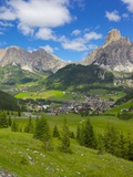 Corvara and Sass Songher Mountain, Badia Valley, Trentino-Alto Adige/South Tyrol, Italy Photographic Print by Frank Fell