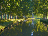 Navigation on Canal du Midi, UNESCO World Heritage Site, Aude, Languedoc Roussillon, France Photographic Print by  Tuul