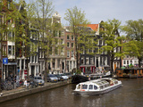 Canal Boat and Architecture, Amsterdam, Holland, Europe Photographic Print by Frank Fell