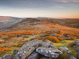 Looking Towards Honeybag Tor in Dartmoor National Park, Devon, England, United Kingdom, Europe Photographic Print by Julian Elliott