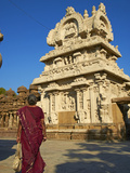Kailasanatha Temple Dating from the 8th Century, Kanchipuram, Tamil Nadu, India, Asia Photographic Print by  Tuul