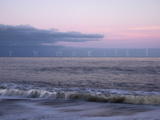 Twilight Hues in the Sky, View Towards Scroby Sands Windfarm, Great Yarmouth, Norfolk, England Lámina fotográfica por Jon Gibbs