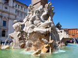 The Four Rivers Fountain in Piazza Navona, Rome, Lazio, Italy, Europe Photographic Print by Adina Tovy