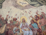 Holy Spirit Fresco in Loreto Church, Prague, Czech Republic, Europe Photographic Print by  Godong