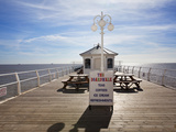 Boardwalk Cafe on the Pier at Felixstowe, Suffolk, England, United Kingdom, Europe Photographic Print by Mark Sunderland