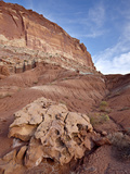 Red Rock Cliffs and Badlands, Capitol Reef National Park, Utah, USA, North America Photographic Print by James Hager