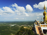View from Top of Tiger Cave Temple (Wat Tham Suea), Krabi Province, Thailand, Southeast Asia, Asia Photographic Print by Jochen Schlenker