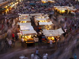 Long Exposure, People Moving around DJemaa el Fna, Marrakech, Morocco, North Africa, Africa Photographic Print by Ian Egner