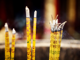 Burning Incense Sticks at Bamboo Temple Which Dates Back to Tang Dynasty, Kunming, Yunnan, China Photographic Print by Lynn Gail