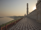 The River Yamuna Flowing Beside Taj Mahal, UNESCO World Heritage Site, Agra, Uttar Pradesh, India Photographic Print by Stuart Keasley