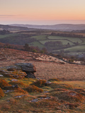 The View from Chinkwell Tor in Dartmoor National Park, Devon, England, United Kingdom, Europe Photographic Print by Julian Elliott