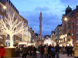 Christmas Tree at Dusk, Innsbruck, Tyrol, Austria, Europe Photographic Print by Vincenzo Lombardo