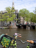 Zuiderkerk and Canal, Amsterdam, Holland, Europe Photographic Print by Frank Fell