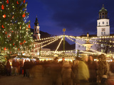 Christmas Market, Salzburg, Austria, Europe Photographic Print by Vincenzo Lombardo